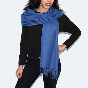 Super Soft Classic Italian Royal Blue Pashmina