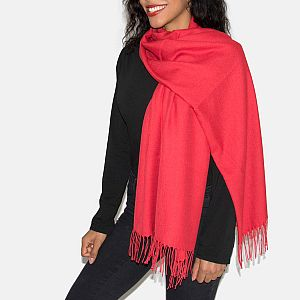 Super Soft Classic Italian Red Pashmina