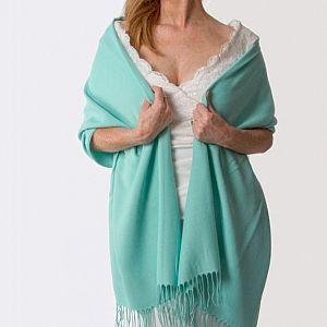 Super Soft Italian Pashmina - Turquoise