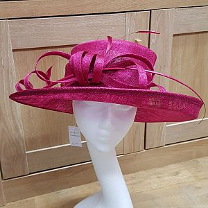 Large Occasion / Wedding Hat - Mulberry