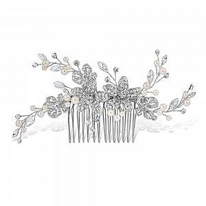 Adele Pearl & Diamante Bridal Comb