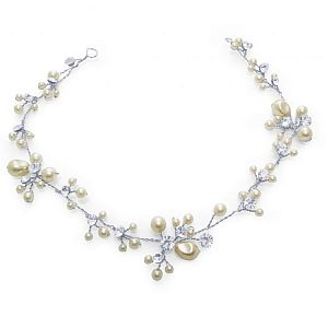 Betsy Pearl & Diamante Bridal Hair Vine