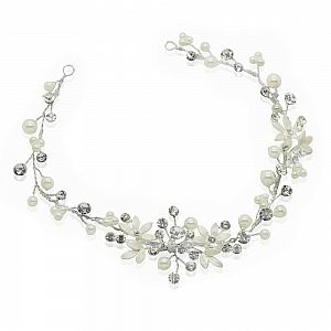 Liv Diamante & Pearl Bridal Hair Vine