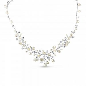 Elizabeth Freshwater Pearl & Diamante Necklace