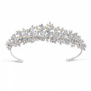 Hepburn Freshwater Pearl & Diamante Tiara