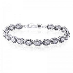 Amalia Simulated Diamond Bracelet 19cm