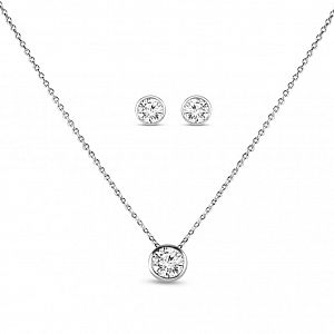 Aspen Platinum Plated Pendant Set