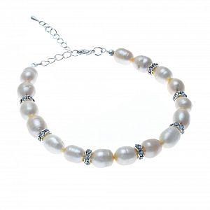 Grace Freshwater Pearl & Diamante Bracelet