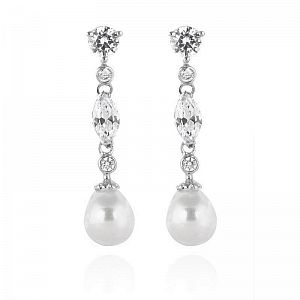 Jane Pearl Bridal Earrings
