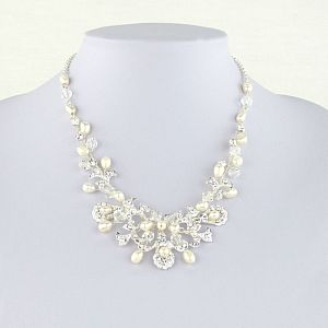 Kensington Freshwater Pearl & Diamante Necklace