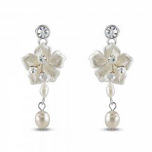 Petal Freshwater Pearl Earrings