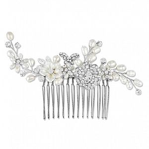 Freshwater Pearl & Crystal Bridal Comb