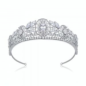 Alexandra Luxury Platinum Plated Wedding Tiara