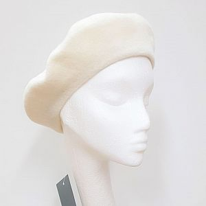 Wool Beret - Cream