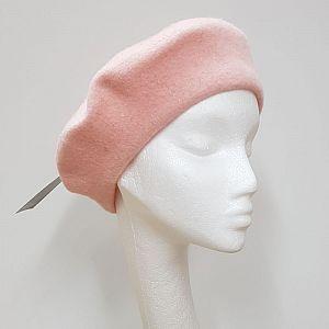 Wool Beret - Blush Pink