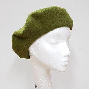 Wool Beret - Lichen Green