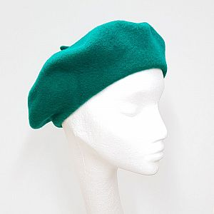 Wool Beret - Emerald
