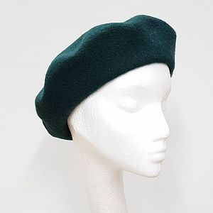 Wool Beret - Bottle Green