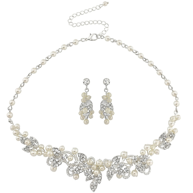 Vintage Inspired Pearl Jewellery Set, Occasion Jewellery