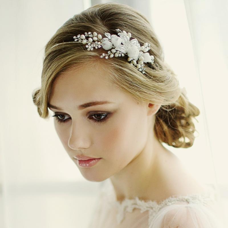 Clara Romantic Silver Plated Headband, Tiaras