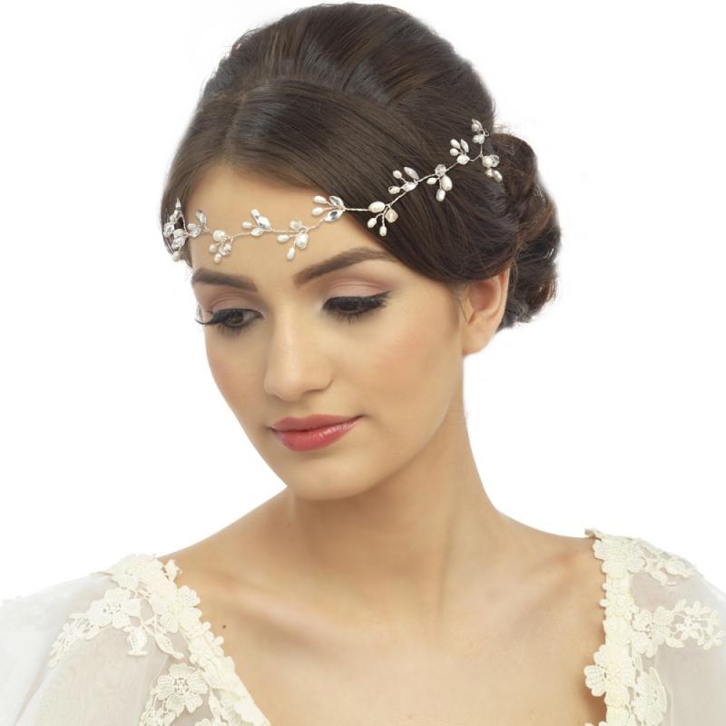 Chic Freshwater Pearl Hair Vine, Bridal Hair Accessories
