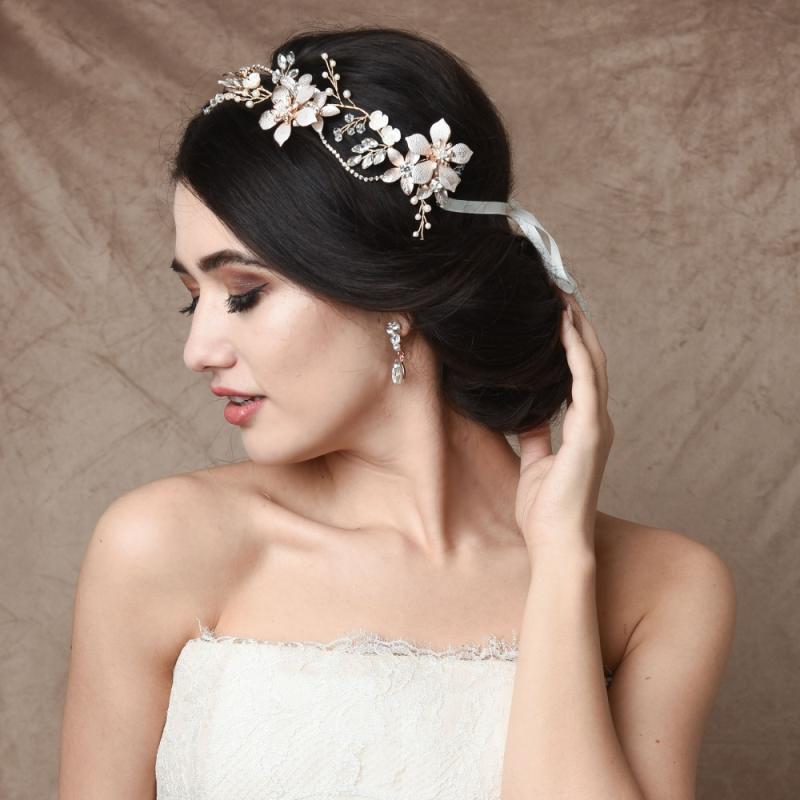 Exquisite Romance Hair Vine - Blush Pink, Bridal Hair Accessories