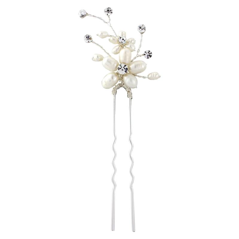 Freshwater Pearl Bridal Hair Pins - Set of 3, Bridal Hair Accessories