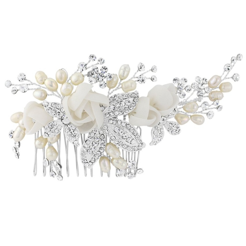 Freya Luxe Bridal Comb - Silver, Bridal Hair Accessories