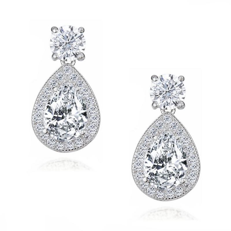 Dazzling Crystal Drop Earrings, Jewellery