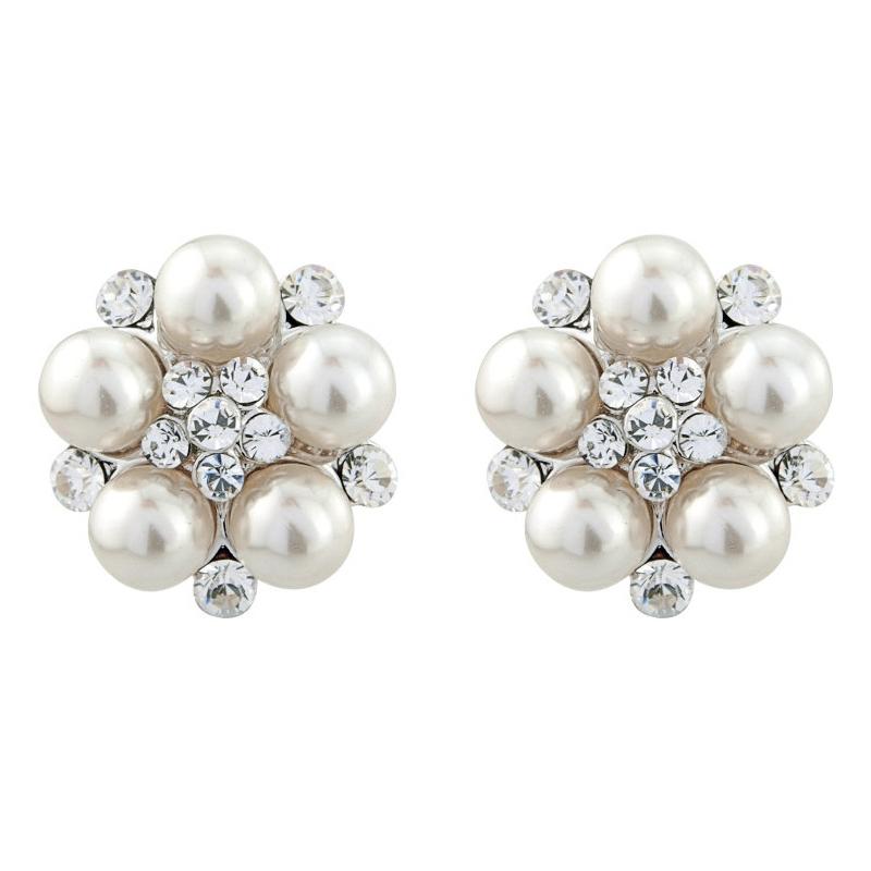 Chic Ivory Pearl Earrings, Jewellery