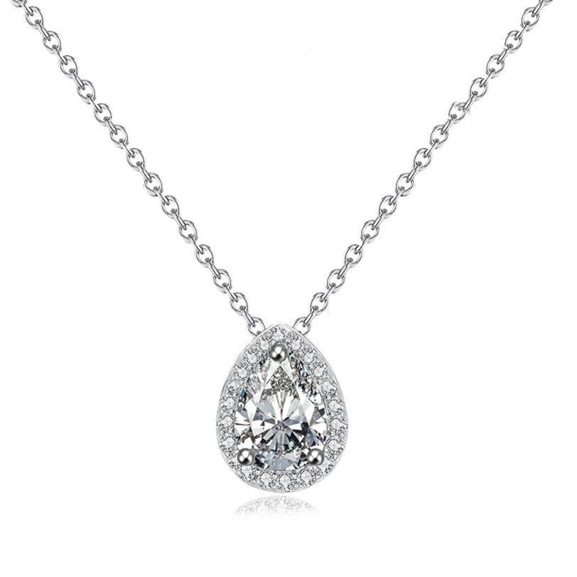 Cubic Zirconia Dainty Gem Necklace, Jewellery