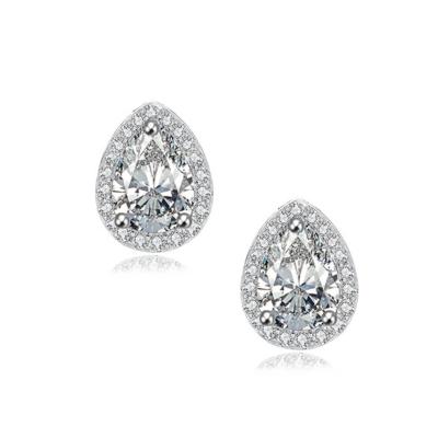 Cubic Zirconia Dainty Gem Earrings, Jewellery