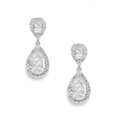 Crystal & Diamante Drop Earrings, Jewellery