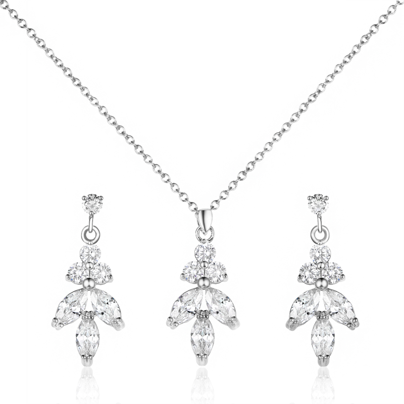 Crystal Bridal Jewellery Set, Jewellery