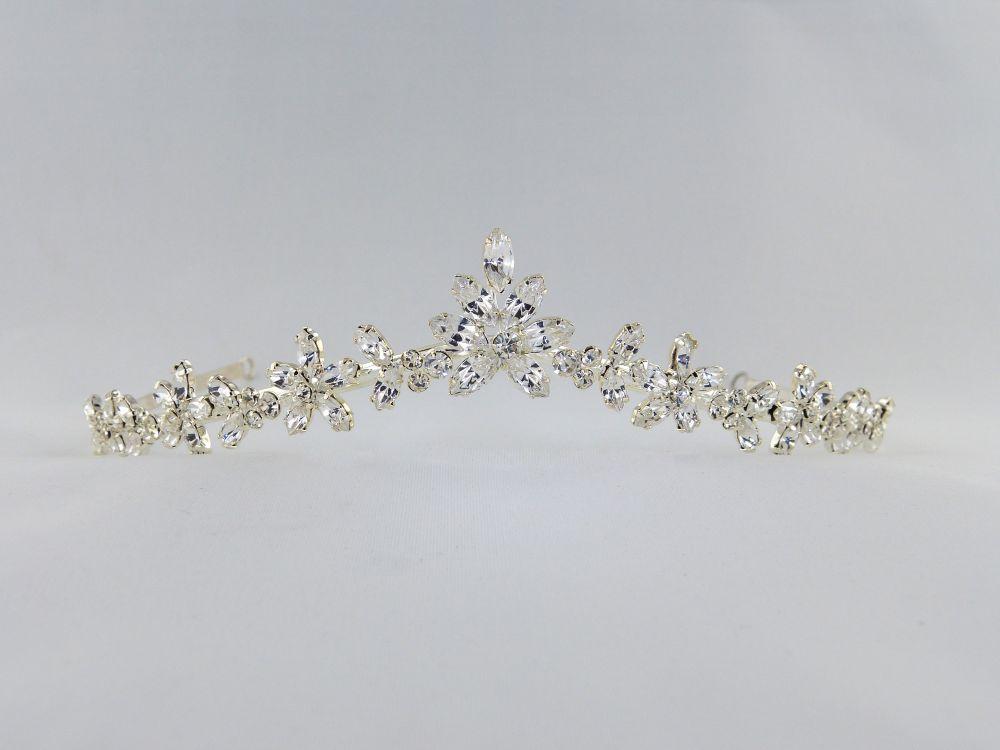Diamante Flower Tiara, Tiaras