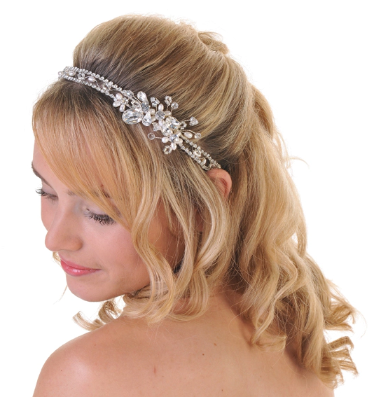 Pearl & Diamante Double Side Tiara, Tiaras