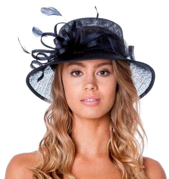 Small Occasion / Wedding Hat - Navy, Ladies Hats