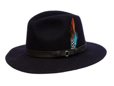 Wool Felt Ranger Hat - Navy, Men's Hats