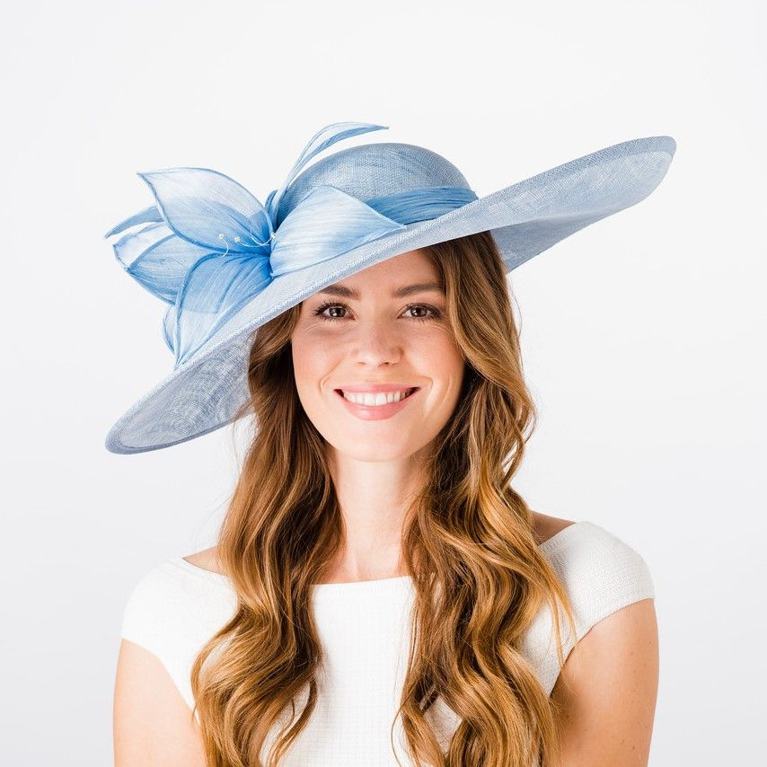 Large Pale Blue Occasion / Wedding Hatinator, Ladies Hats