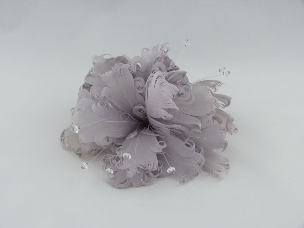 Feather & Crystal Fascinator Clip, Fascinators