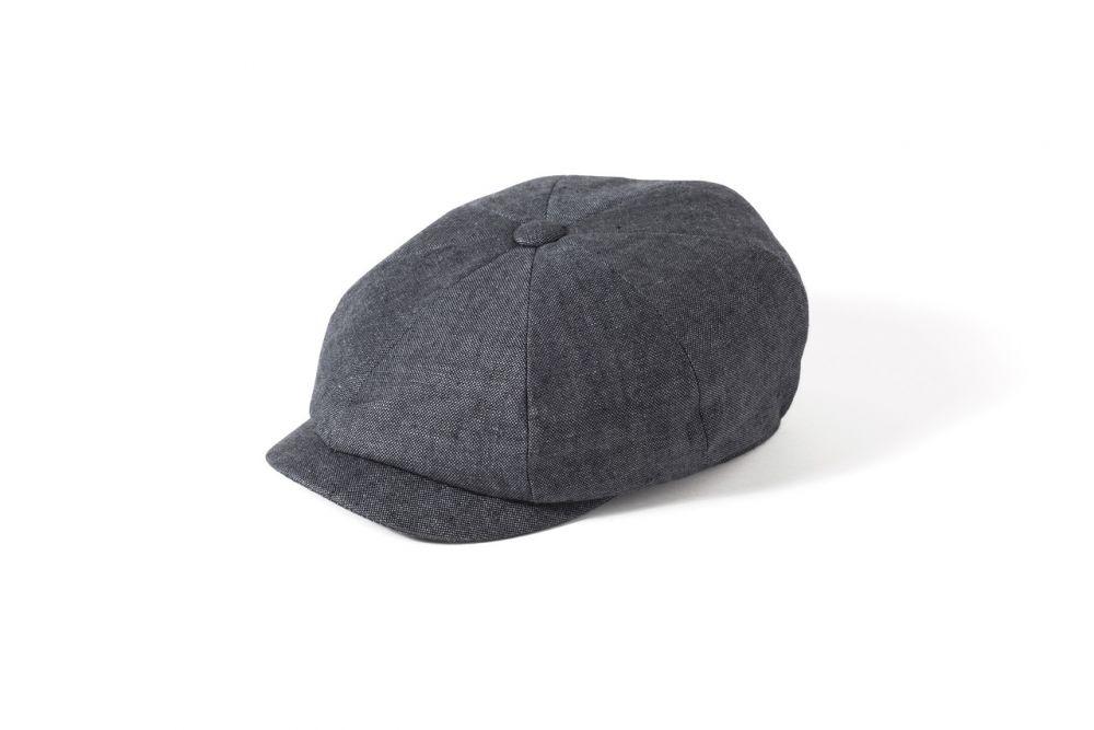 Irish Linen 8 Piece Alfie Cap - Charcoal, Men's Hats