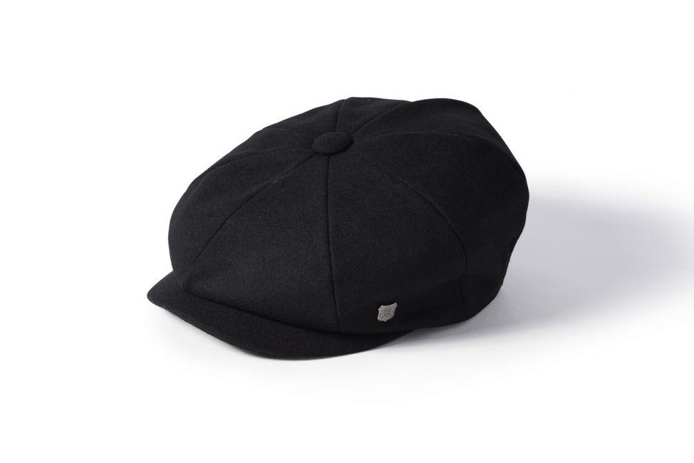 Alfie Melton 8 Piece Cap - Black, Men's Hats