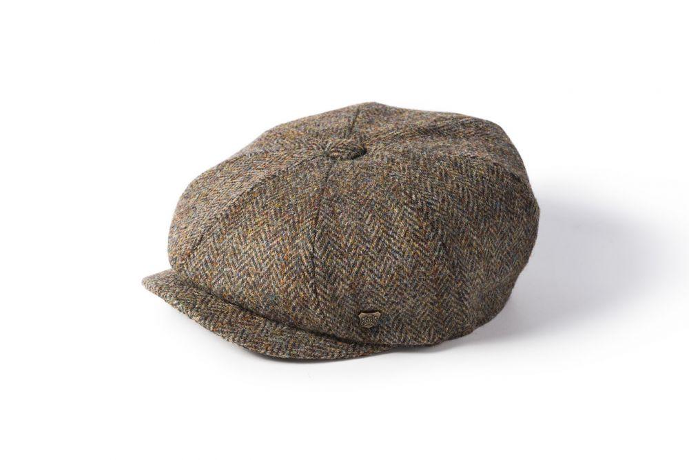 Harris Tweed Carloway Cap - Brown, Men's Hats