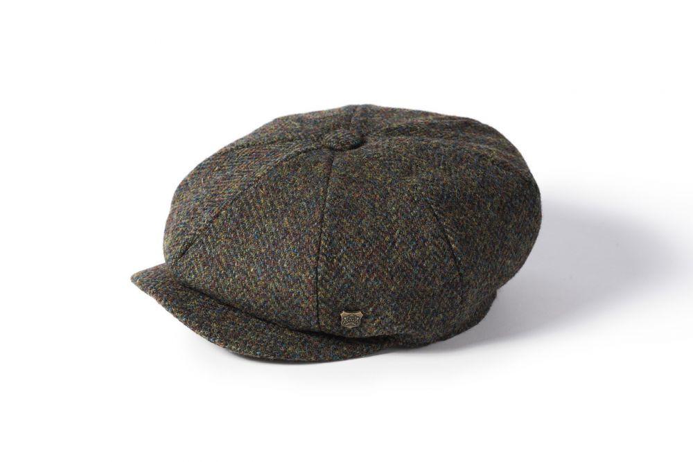 Harris Tweed Carloway Cap - Green, Men's Hats