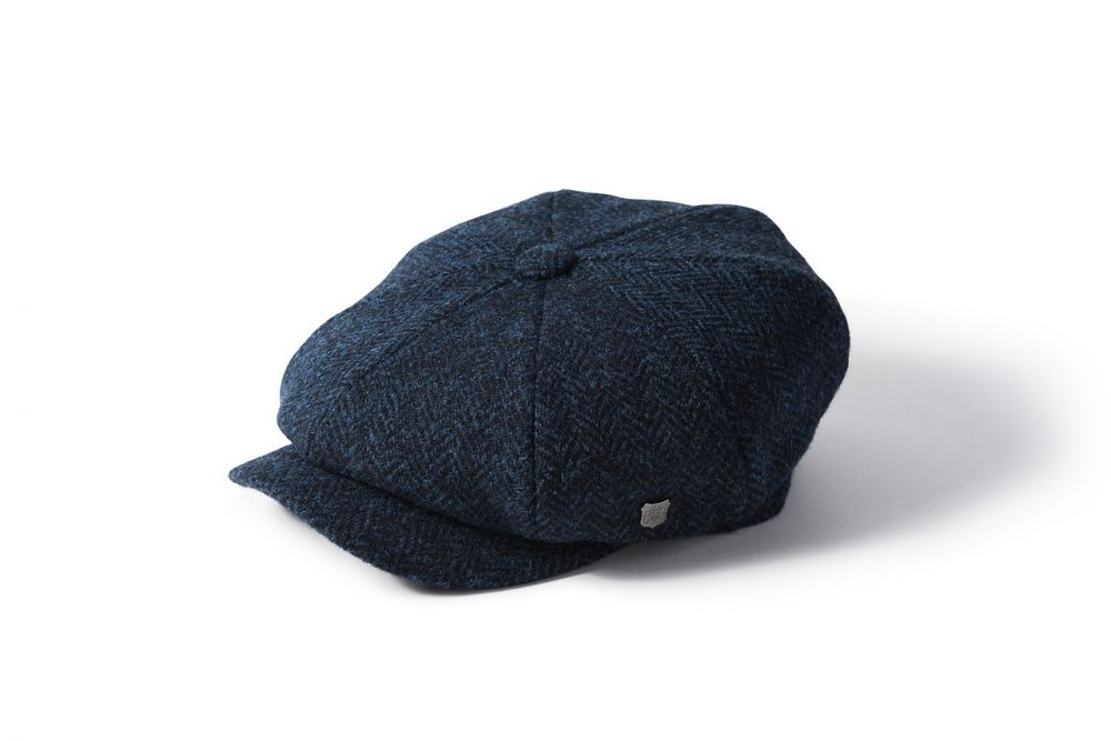 Harris Tweed Carloway Cap - Blue, Men's Hats
