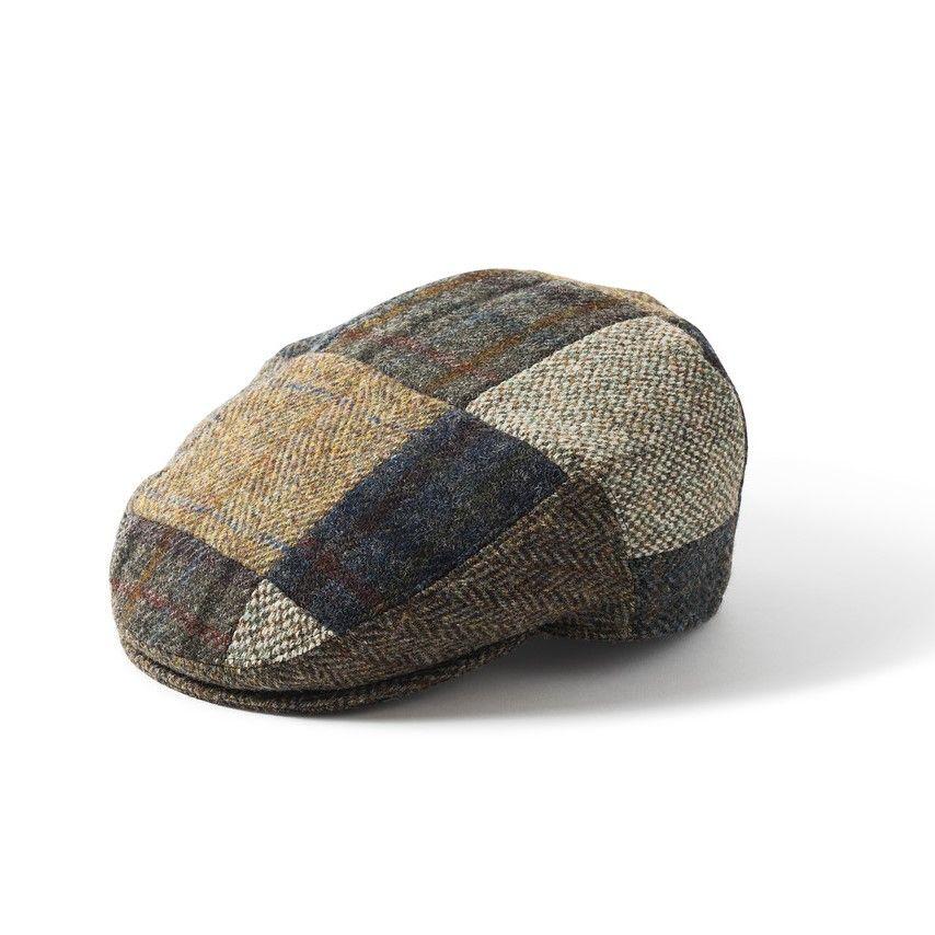 Harris Tweed Patch Cap - Multi Mix, Men's Hats