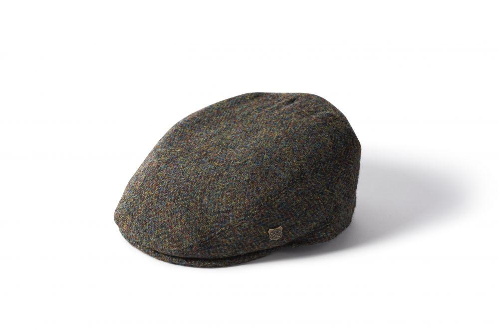 Harris Tweed Stornoway  Flat Cap - Green, Men's Hats