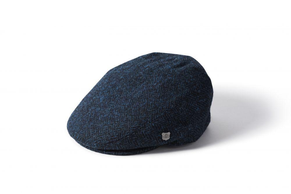 Harris Tweed Stornoway Flat Cap - Blue, Men's Hats