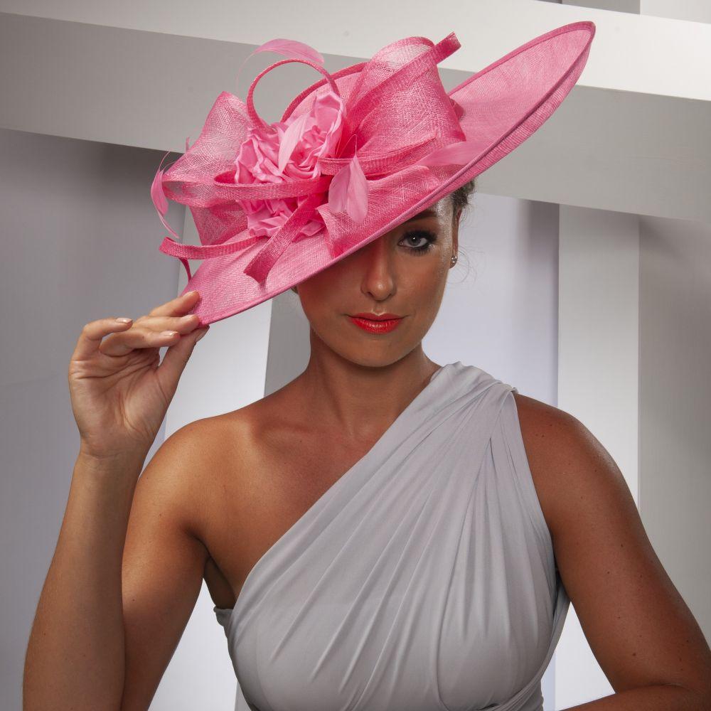 Large Occasion Hatinator - Raspberry, Ladies Hats