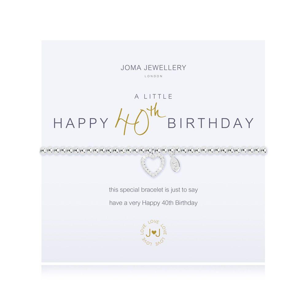 Joma Bracelet - Happy 40th Birthday, Jewellery